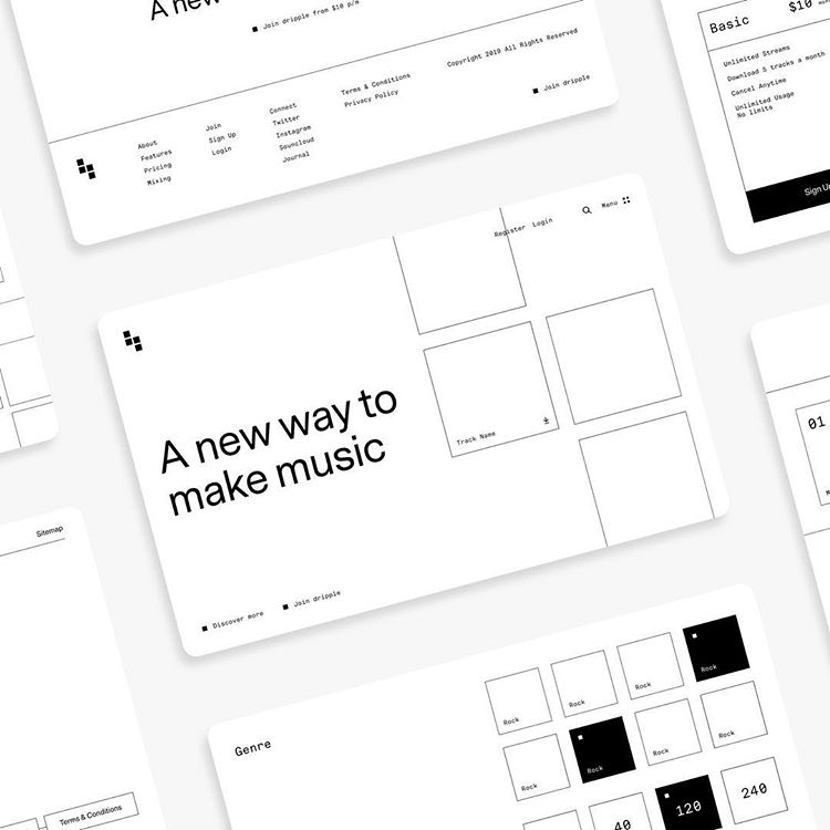 It's been a UX kind of week. Wireframes and pattern libraries all created in Figma.