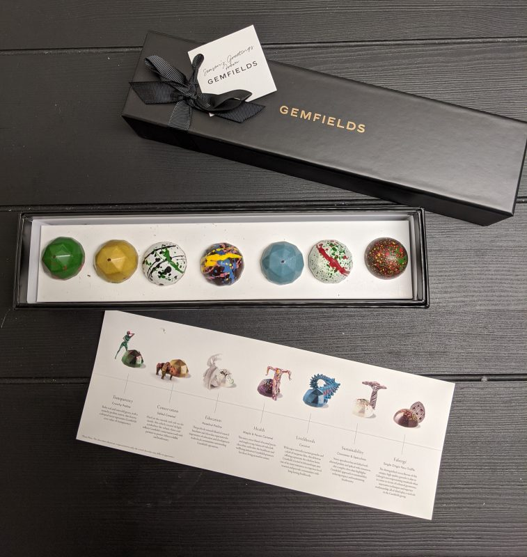 The wonderful people at  @GemfieldsLtd  sent us some chocolates that were almost too pretty to eat. Almost. Thanks guys!